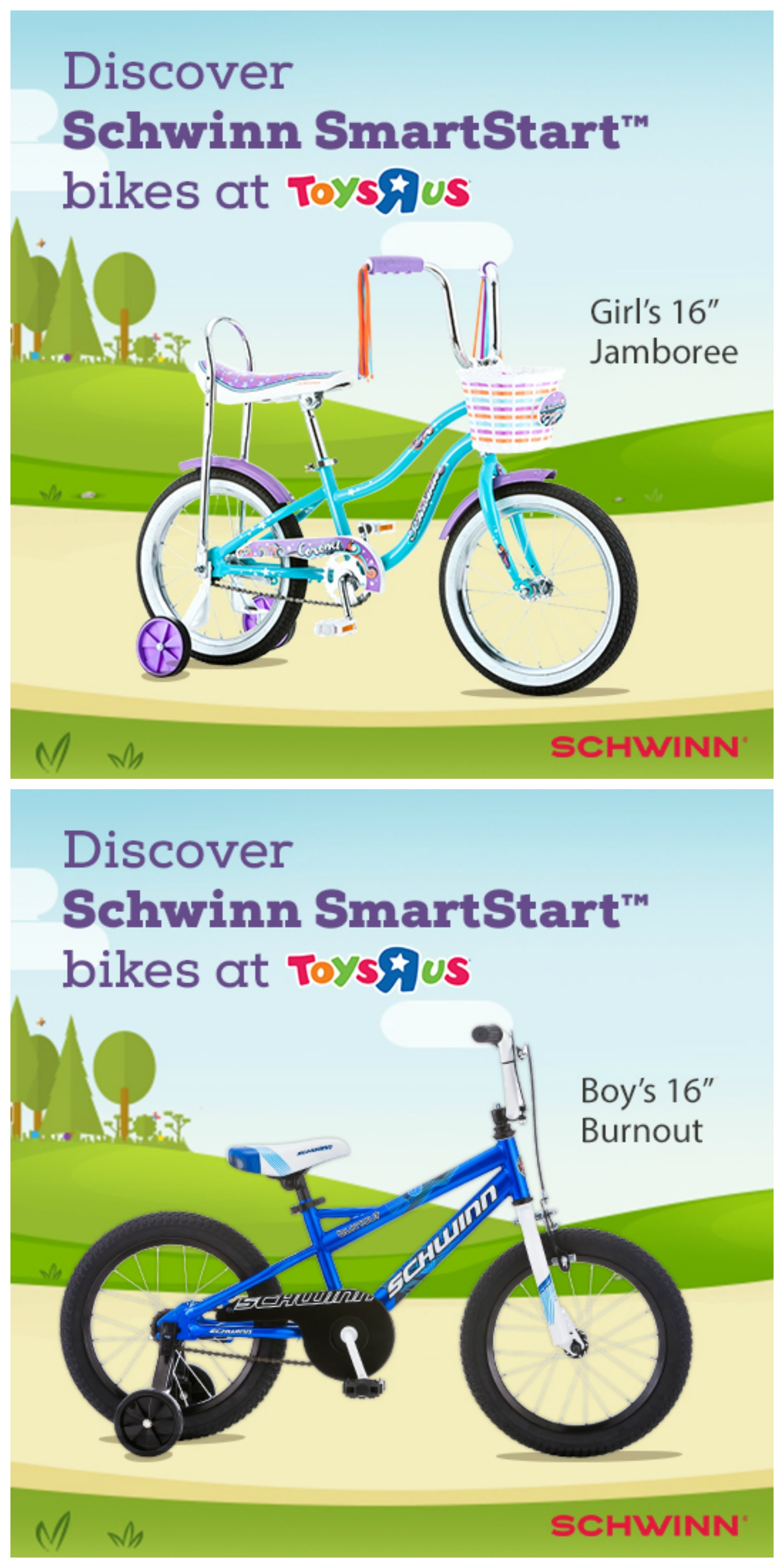 Schwinn SmartStart bikes are perfect for new riders! Available at Toys R Us! #SchwinnSmartStart