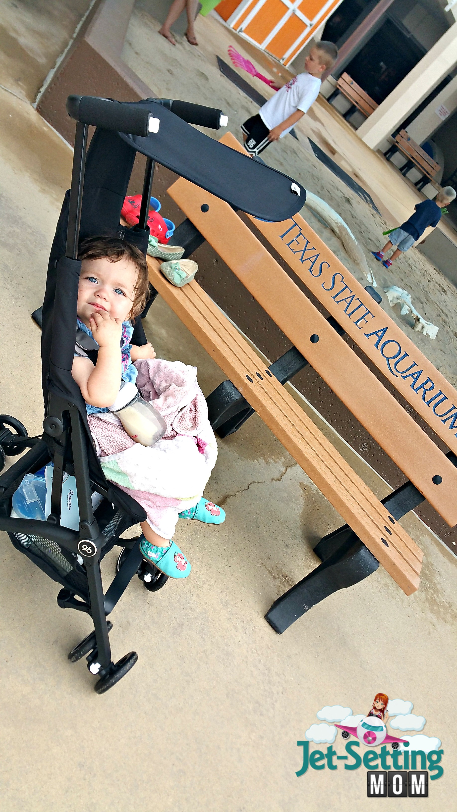 The gb Pockit stroller is perfect for on the go moms