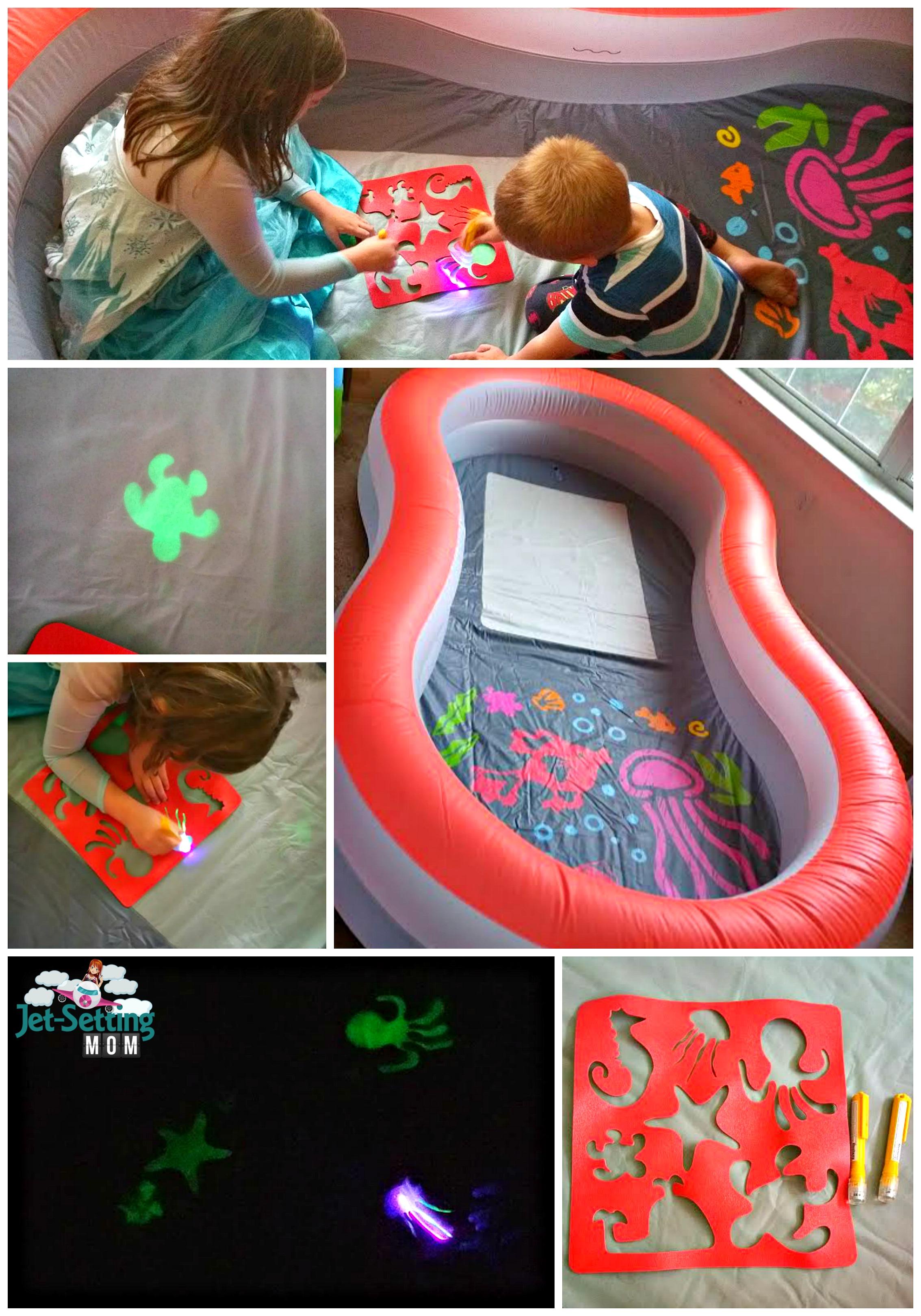 We love the H2OGO Doodle Glow Pool for indoor and outside fun! #BackyardSummerFun