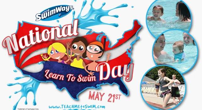 Get ready to swim with SwimWays National Learn To Swim Day & the SwimWays Baby Spring Float