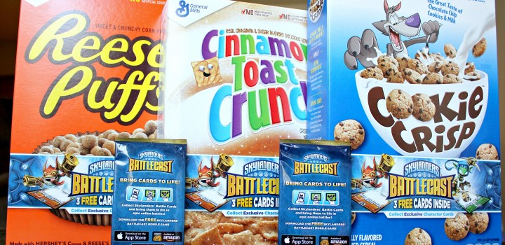 Make mornings fun with General Mills Cereals featuring exclusive Skylanders Battlecast cards