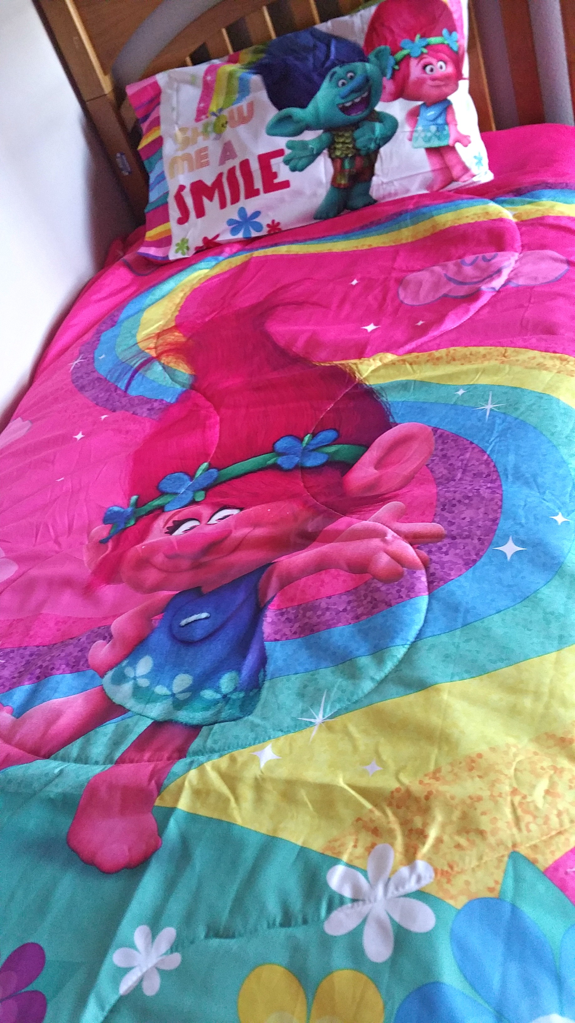 bring home dreamwork's trolls with themed bedding from