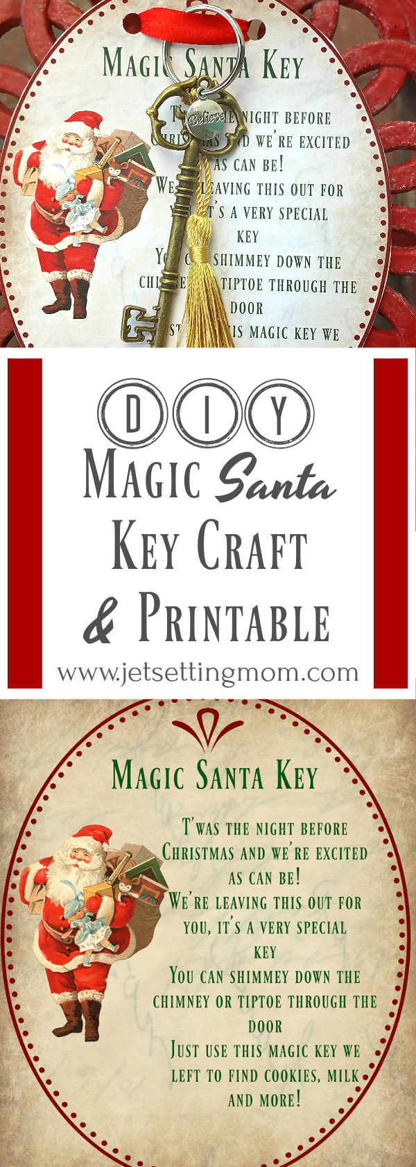 image regarding Key Printable identified as Do it yourself Xmas Crafts: Magic Santa Major How-In direction of Cost-free Printable
