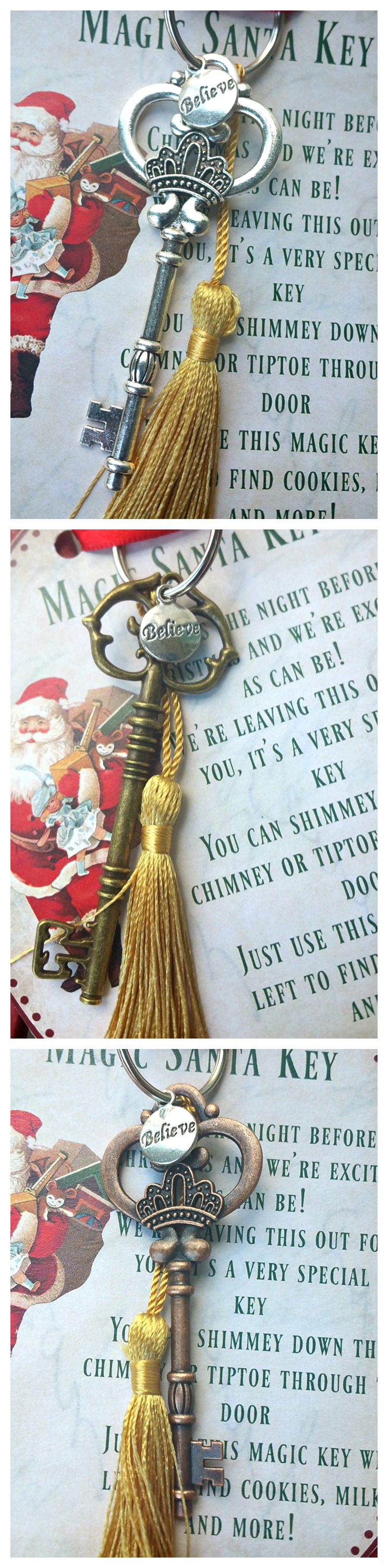 Create your own Magic Santa Key with FREE printable poem