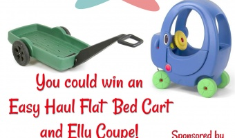 Enter to win an Elly Coupe and Easy Haul Flat Bed Cart from Simplay3