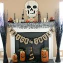 DIY vintage Halloween mantel refresh on a budget