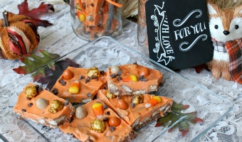 Falling for pumpkin crunch bark recipe + DIY mason jar gift