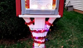 Spread Christmas Cheer Throughout Your Community: DIY North Pole Express Mailbox