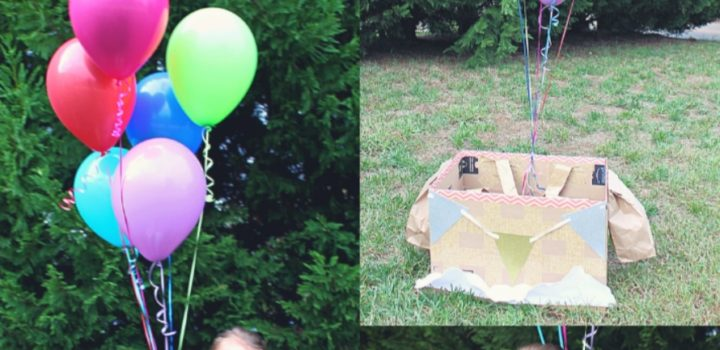 DIY Hot Air Balloon Boxtume – Halloween Made Easy